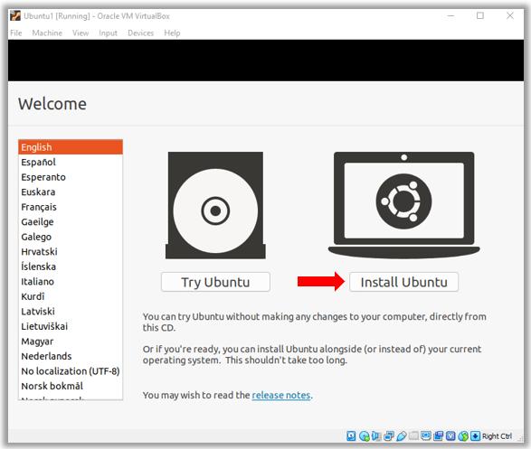 Install Ubuntu vs Try Ubuntu