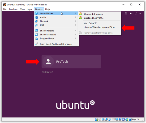 Ubuntu image not mounted after install login prompt