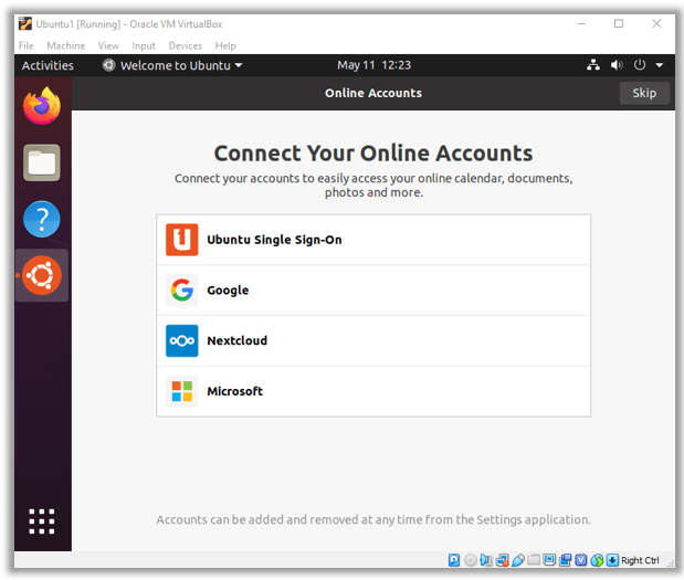 Ubuntu 20.04 Desktop Installation Complete on VirtualBox