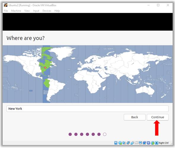 Ubuntu select time zone location