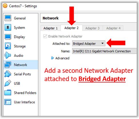 VirtualBox Centos 7 bridged network adapter xrdp