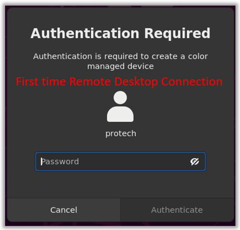 windows Ubuntu remote desktop authentication required connection