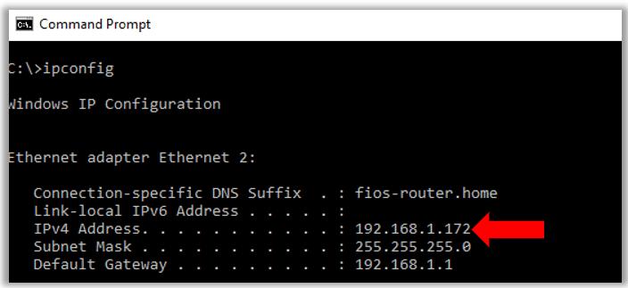 Ubuntu remote desktop connection configuration from windows network ip