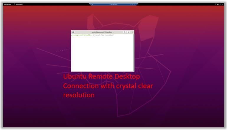 Windows remote desktop connection Ubuntu vm maximum resolution xrdp xorg