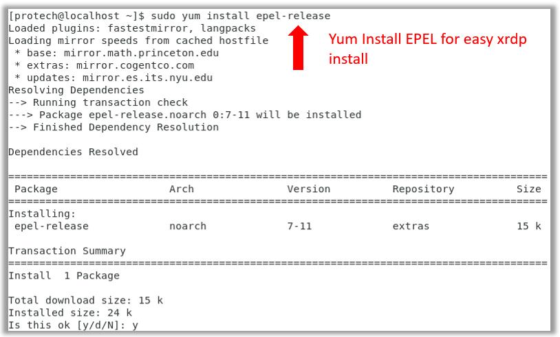 epel-release centos 7 install virtualbox vbox repository xrdp