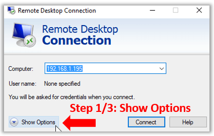 rdesktop two screens dual monitors windows 10 remote options