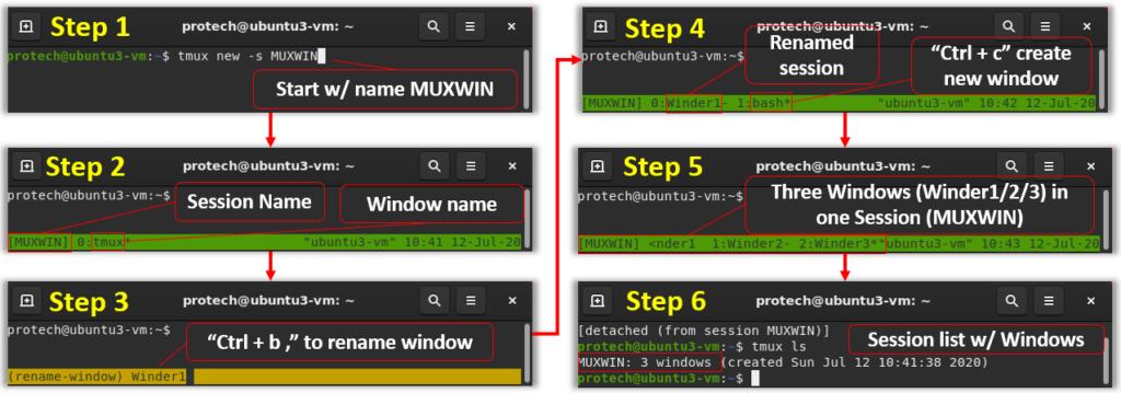 tmux zsh zshc config conf themes buffer switch color scheme server attach detach