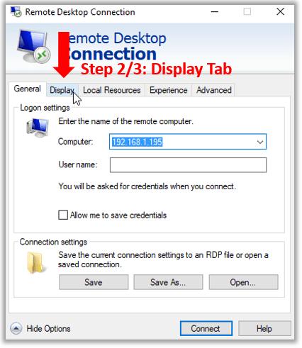 Remote desktop rdesktop display multiple monitors dual screen