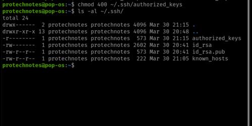 ssh keys directory